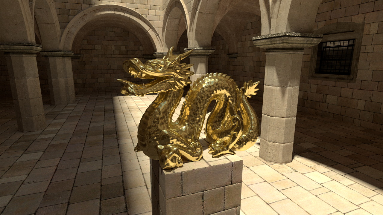 Dragon sponza render