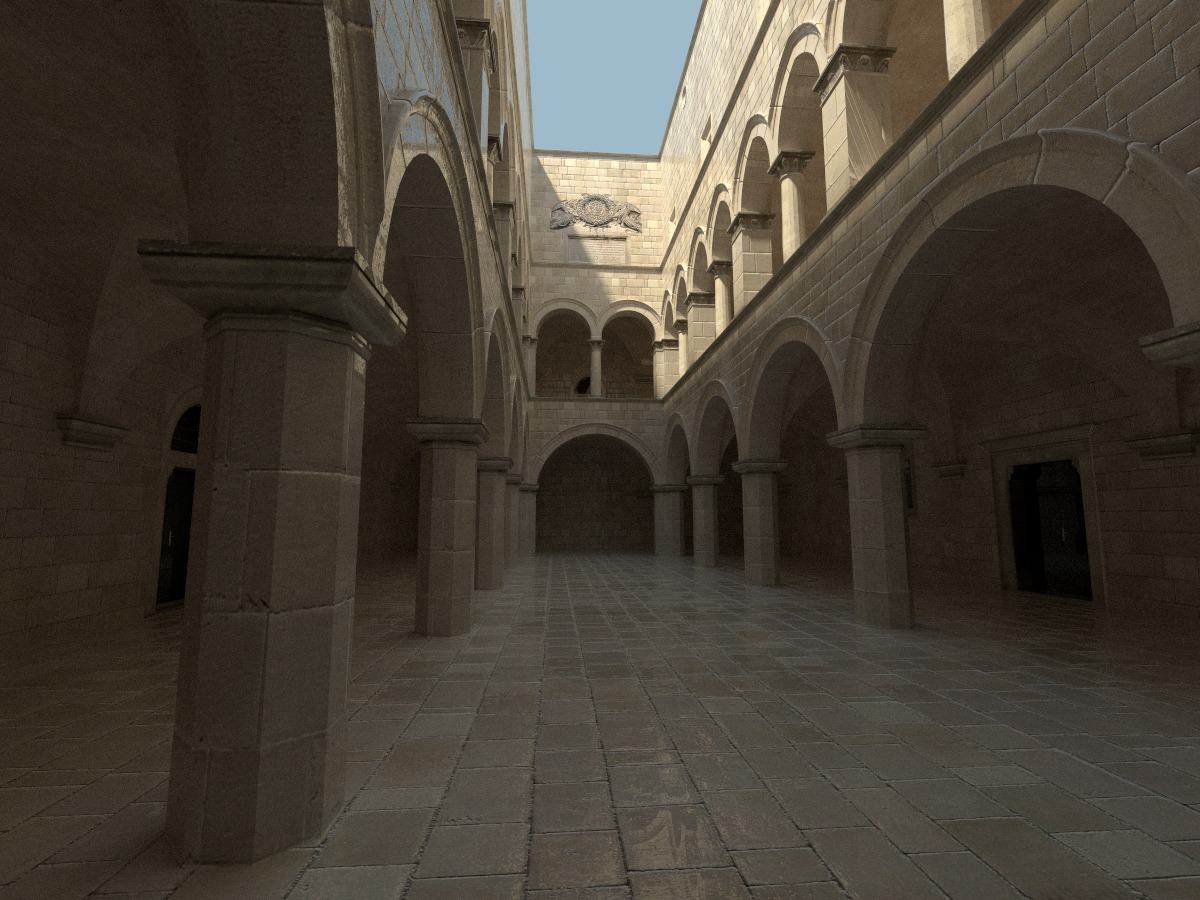 Smooth stone sponza render